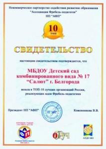 Свидетельство_Топ-10_Салют